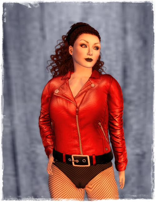 Ydea Mesh Leather jacket Red-crop