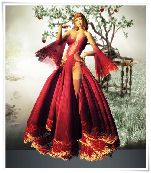 DBL -  Resplendent Gown ~ Rose Groupgift November 2014