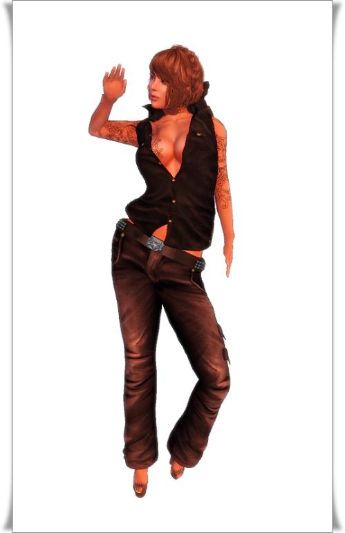 Poison -Group gift- Poison vest shirt+pants_mesh_male & female