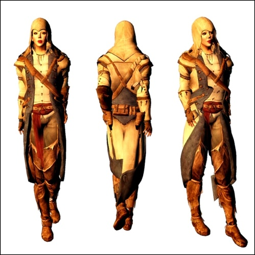 LostGem Mesh - Assassin down Outfit  FREEBIE