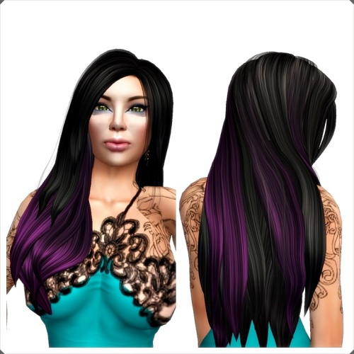 Pelle - APRIL MESH HAIR BLACK PURPLE GG Februar 2015