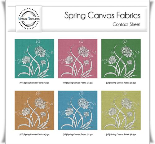 [VT] Spring Canvas Fabrics Contact Sheet