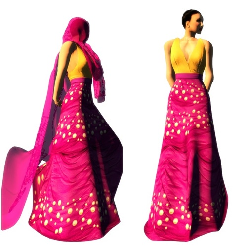 ALB RAMA gown 1 with hair cover by AnaLee Balut