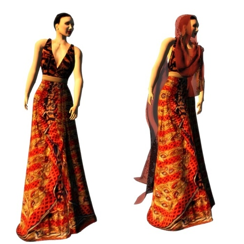 ALB RAMA gown 5 with heels & hair cover