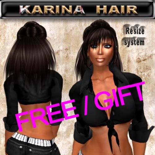 FREE EdelStore women hair _ Karina _ dark brown GIFT