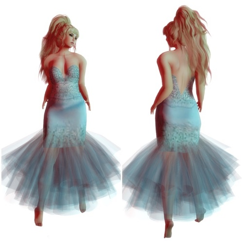 ! !ALLURA! !-Esther Aqua Gown GG April 2016
