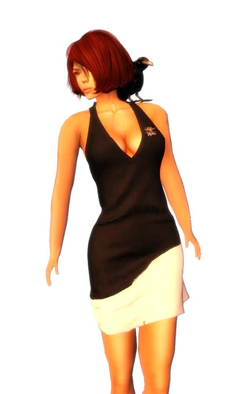 Black & White Gift Dress 002 B&W