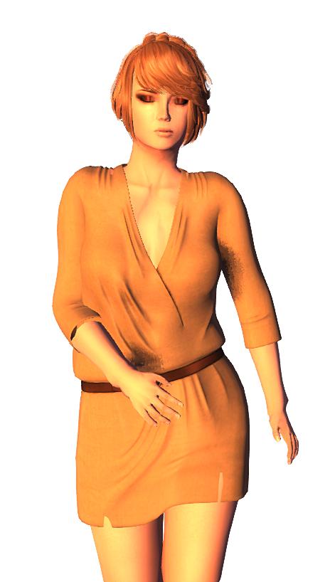 BlackRose - Wrap Dress Nude FREEBIE