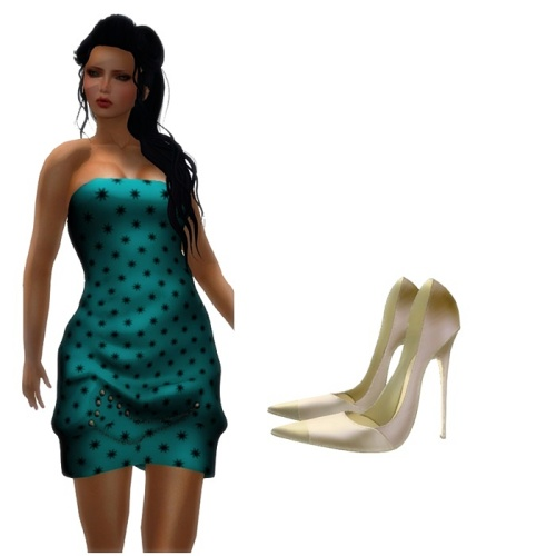 ND - Dress Chain Teal Maitreya.Slink.Eve.TMP.Belleza