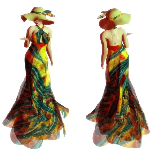 Paris METRO Couture- Artist Series-Monroe-Mesh Maxie Dress (c)