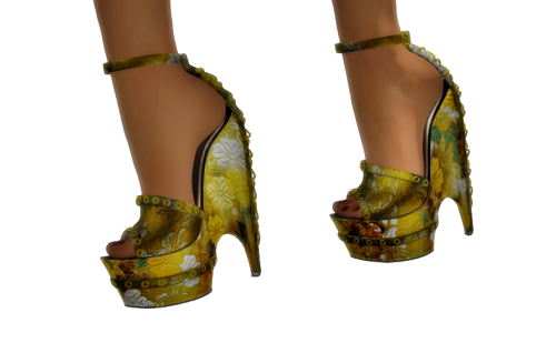Paris METRO Couture- Beautiful Flight - Mesh Heels (c)