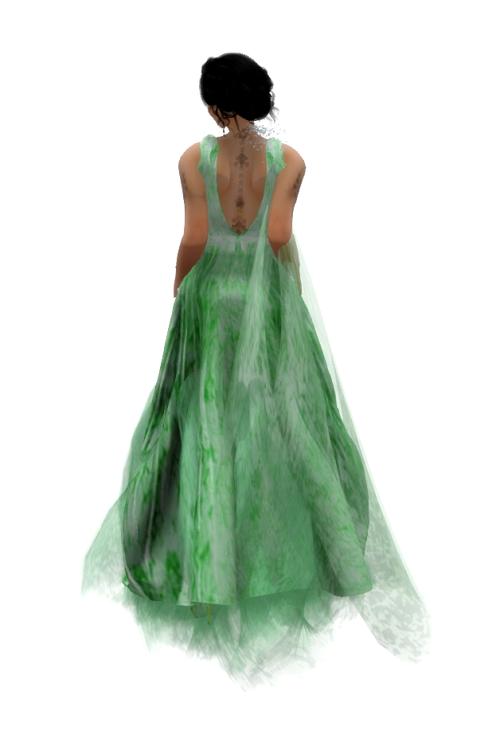 Paris METRO Couture- Find Me-Lint- Mesh Gown (C)