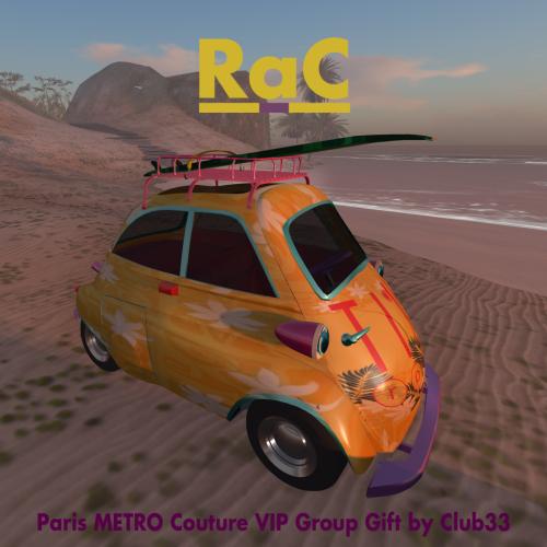 Paris METRO Couture VIP Group Gift - TikRose Surf Mobil