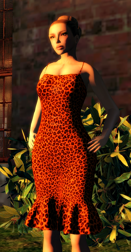 Vintage Touch -slfrees&offers GG Grable Pinup Dress - Tangerine