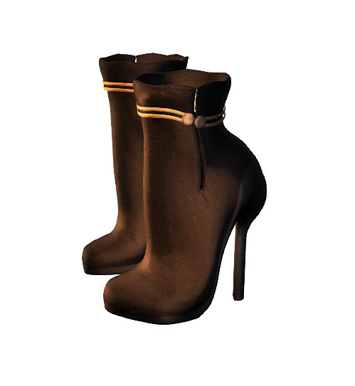 !EE MESH ANKLE BOOTS SLINK HIGH FEET Brown+Black - GIFT
