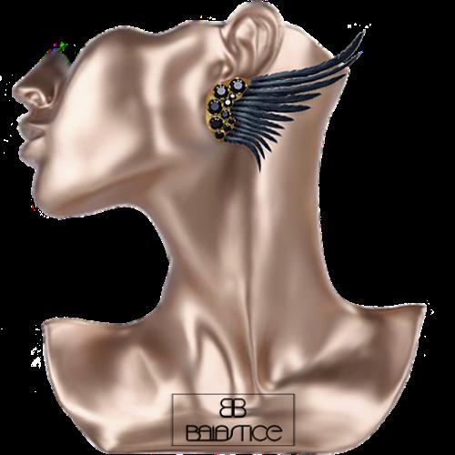 FS-Baiastice_Black Diamonds Wing-earrings