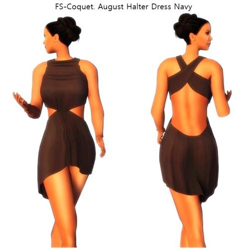 FS-Coquet. August Halter Dress Navy