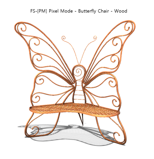 FS-[PM] Pixel Mode - Butterfly Chair - Wood