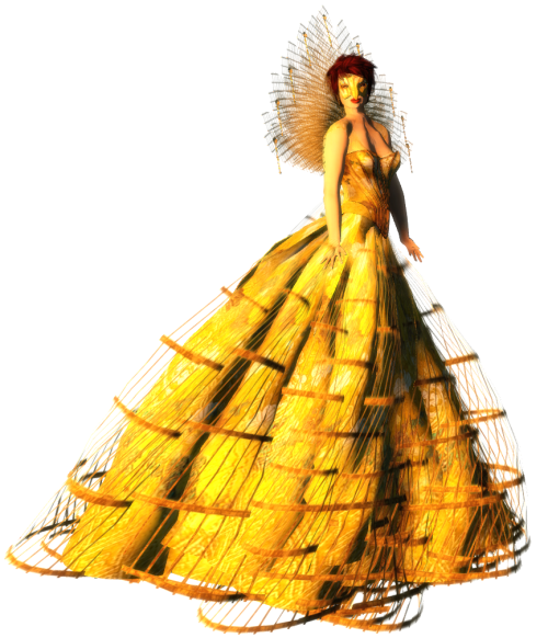 Paris METRO Couture- Beautiful Flight Gown w-Appliers (c)