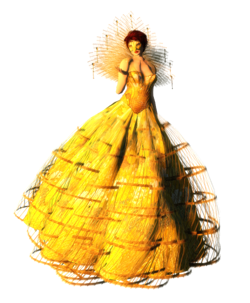 Paris METRO Couture- Beautiful Flight Gown w-Appliers (c)1