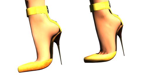 Paris METRO Couture-Mon Amour-Gold Belleza&Slink Mesh Shoes(c)
