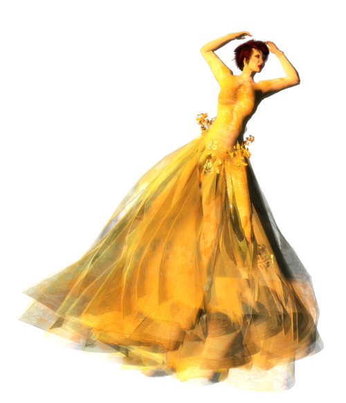 Paris METRO Couture- The Meadow Gown in Gold w-Appliers (c)
