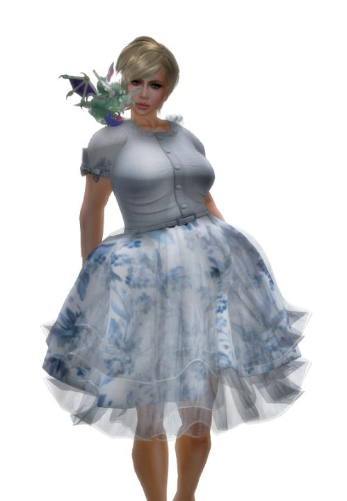 The White Armory  - Le Temps des Fleurs Mesh Dress Set-Bleu GG 29. Mai 2016