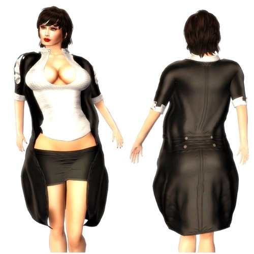 Braham Design Black Kalina Bloyse Jacket Skirt Outfits Mesh