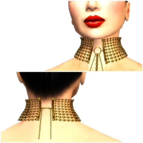 EMO-tions@LOST and FOUND - MORPHINE CHOKER Gold