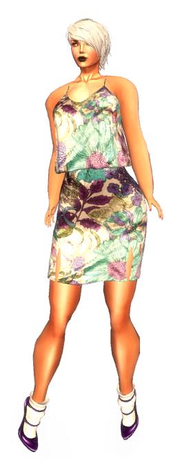 K E L I N I - Springtime Mesh Dress Ciel