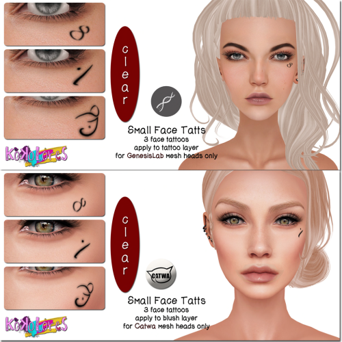 [KoKoLoReS]BP- Small Face Tatts for Catwa&GenLab - GIFT