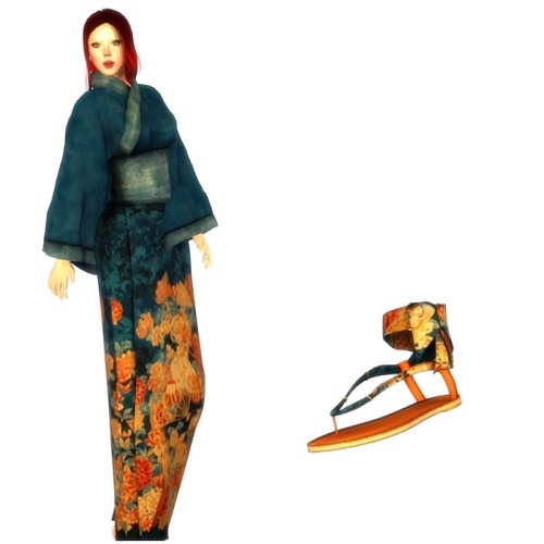TWA-Subarashi Mesh Kimono Set GG June 2016