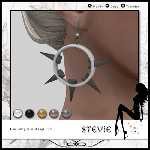 WICKED _ Stevie - Earrings (White)
