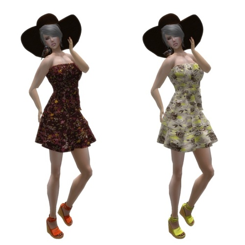 A&J Creation - sl frees&offers - caja-Lydia Dress Mesh GG July 2016