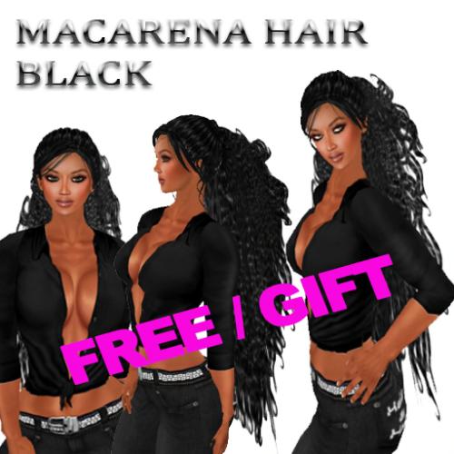 FREE EdelStore  women hair _ Macarena _ black GIFT