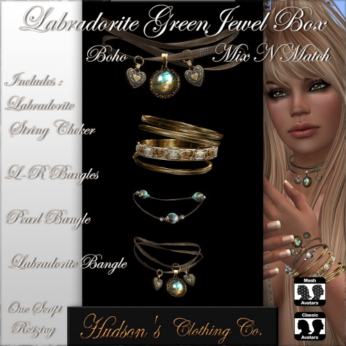 Labradorite Green Jewel Box POSTER