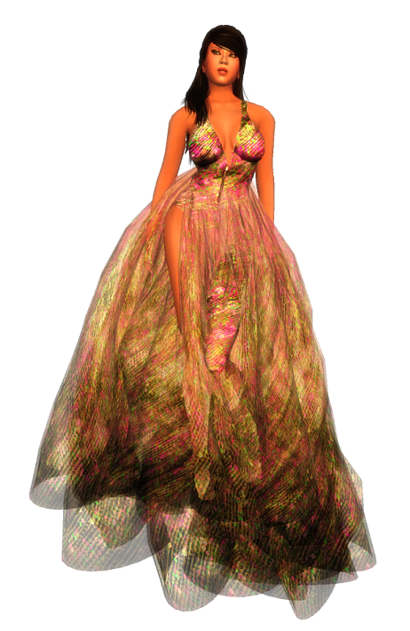 Paris METRO Couture - Rococo-Candy Gown with Appliers (g)