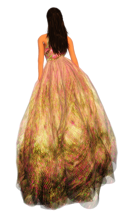 Paris METRO Couture - Rococo-Candy Gown with Appliers (g)1