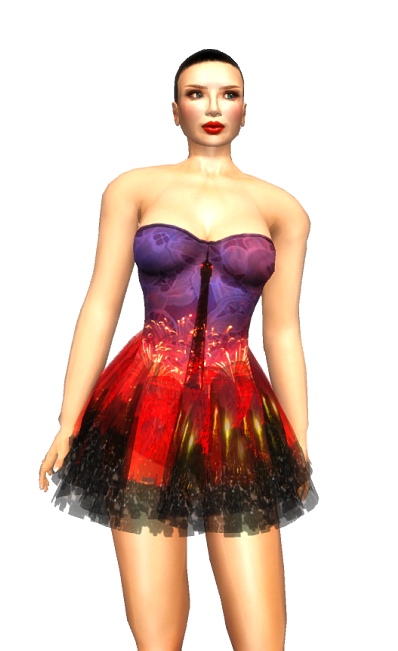 Paris METRO Couture VivaLaFrance 2016 Cocktail Dress