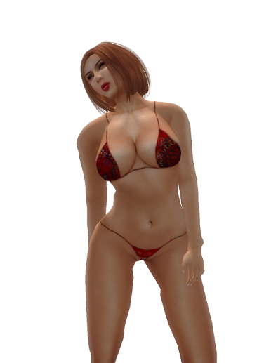 ~TD~ Karla Swimsuit with Appliers Red