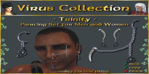 __ VC __ Piercing Set - Trinity - PIC