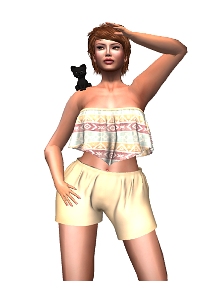 BD-Kiana crop top & shorts ethno gift
