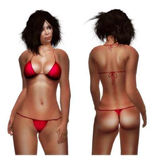 BE Designs- Group Gift Amanda Red Bikini