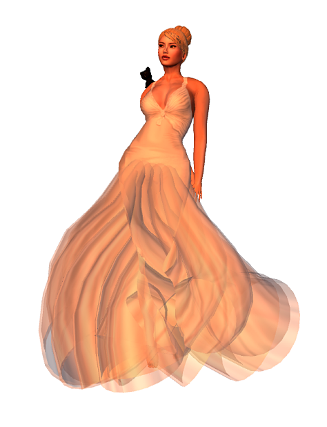 LC-Ayla Formal Gown ( mesh body appliers) ~ silver1