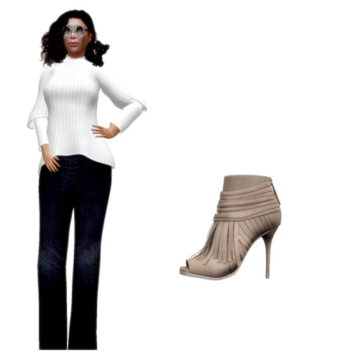 Nevermore Outfit Romantic Sweater & Slacks 101 & SLINK Heels