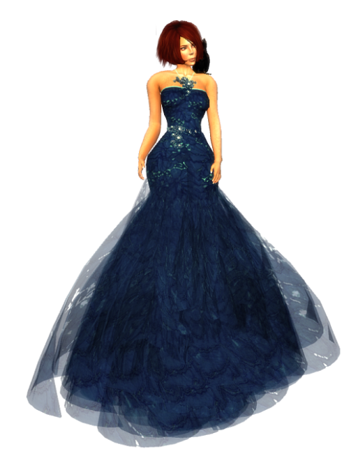 Snowpaws - Radieux Blue Lace Gown GG August 2016