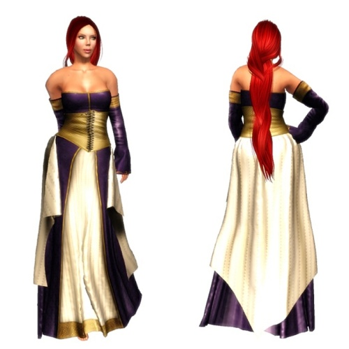 TWA-Esgaroth Mesh Gown Set-Lady Elanor GG 07. August 20161