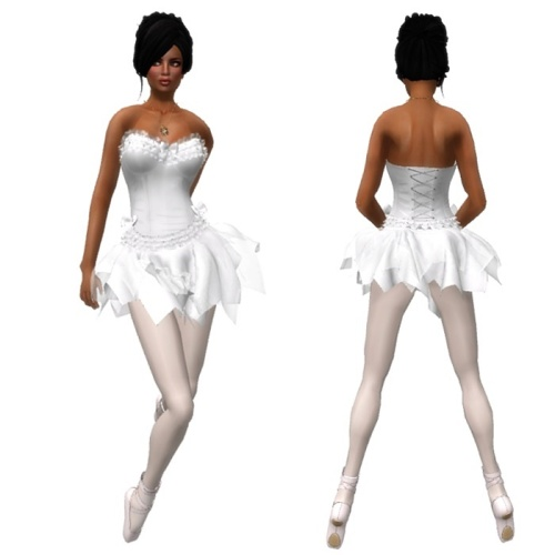 VC - Ballerina WHITE Fullavatar - complete Avatar with VC - jewelery3