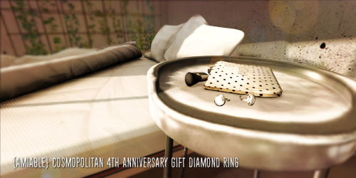 {amiable}Cosmopolitan 4th Anniversary Diamond Ring(Gift)