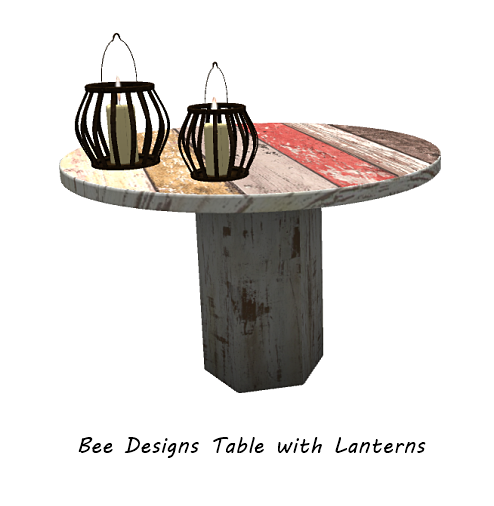 Bee Designs Table with Lanterns